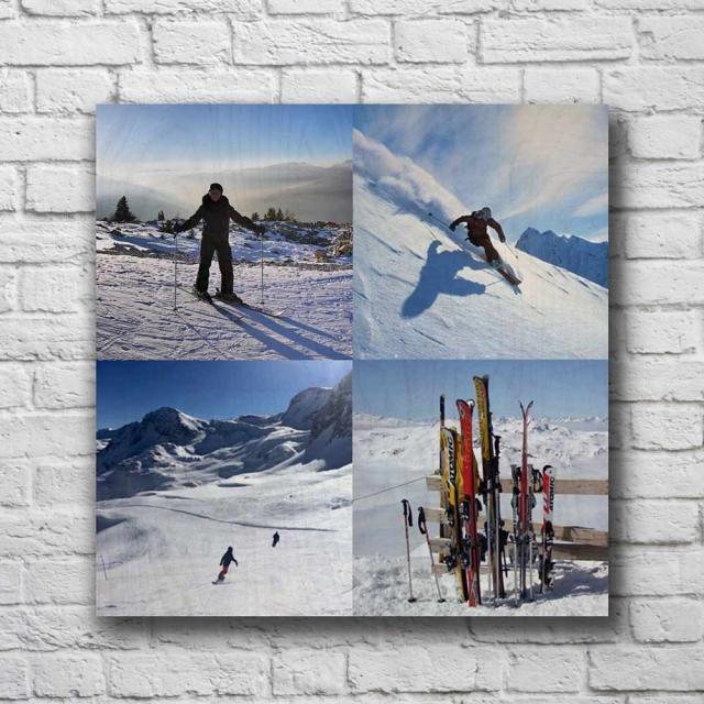 """11"""" x 11"""" Custom Montage 4 Pics"""