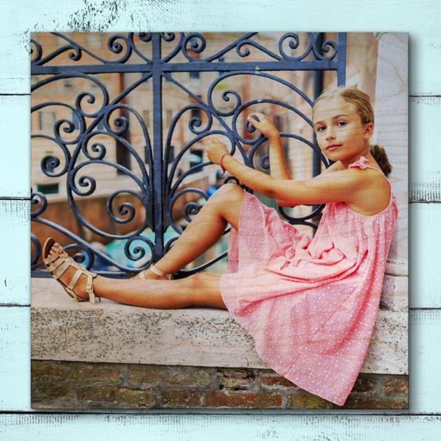 61cm x 61cm Custom Photo Print On Wood