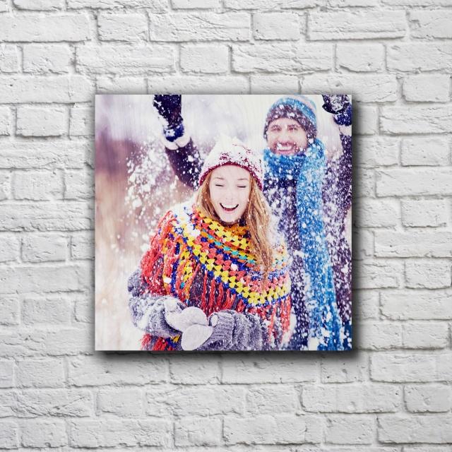 "9"" x 9"" Custom Photo Print On Wood"