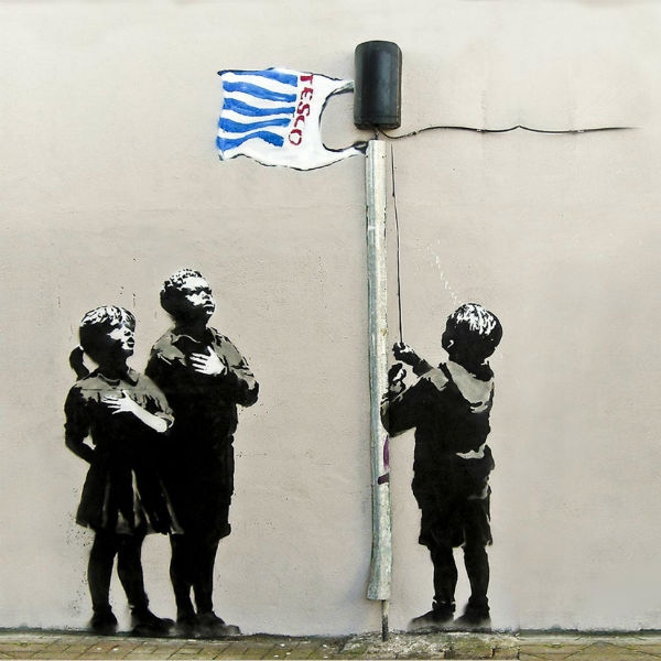 Banksy Tesco Life - Wall Art Print On Wood