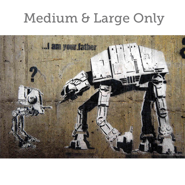 Banksy I am your Father - Wall Art Print On Wood