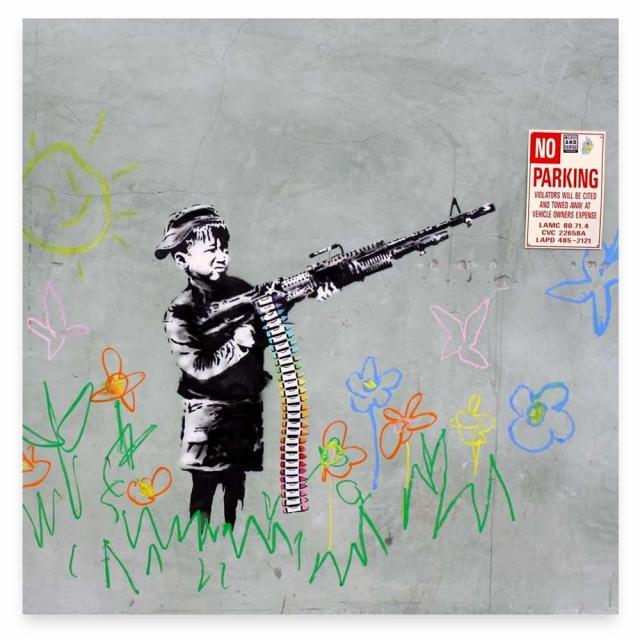 Banksy Crayon Gun