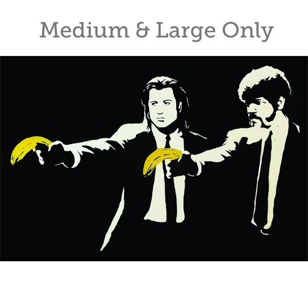 Banksy Pulp Fiction - Wall Art Print On Wood