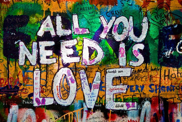 All you need is love - Wall Art Print On Wood