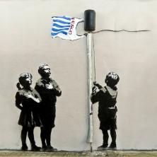 Banksy Tesco Life - Wall Art Print On Wood