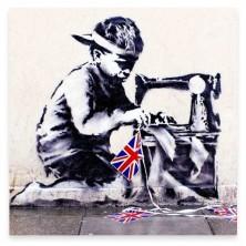 28 x 28cm - Banksy Slave Labour