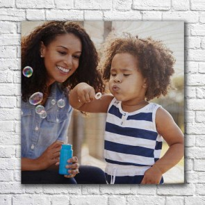 40cm x 40cm Photo Print On Wood