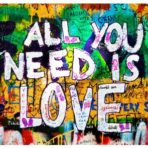 All you need is love - Wall Art Printed On Wood