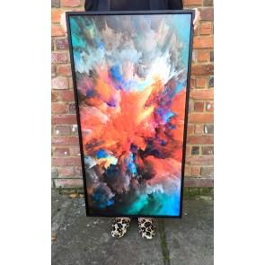 40 x 20 Framed Explosion of Colour
