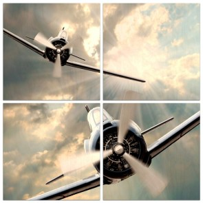 12 x 12 Fighter Planes Multi Panel x4
