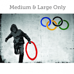 Banksy Olympic Rings