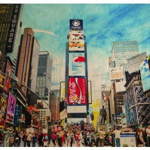 Time Square - Wall Art Print On Wood