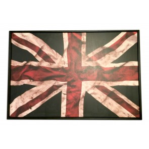 "30"" x 20"" Framed Union Jack Wood Print"