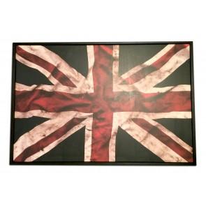 "30"" x 20"" Framed Union Jack Wood Print"