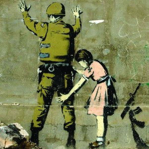 Banksy Soilder Search - Wall Art Print On Wood