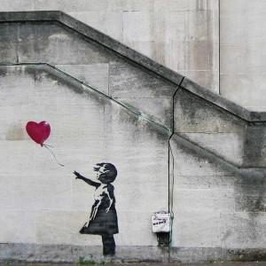 Banksy Balloon Girl - Wall Art Print On Wood