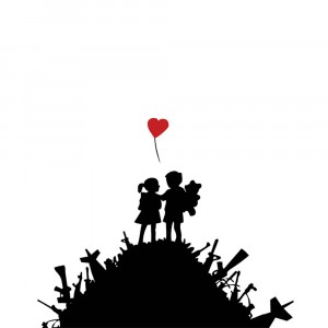 Banksy War Children - Wall Art Print On Wood