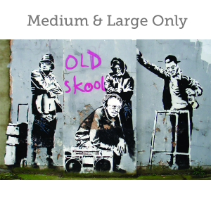 Banksy Old Skool - Wall Art Print On Wood