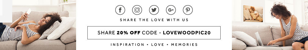 Social Media Share Banner, with 20% off code