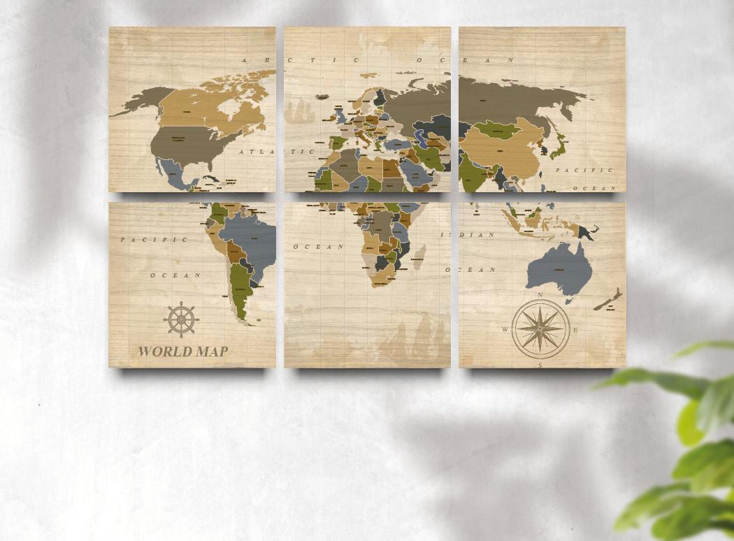 Multipanel World Map