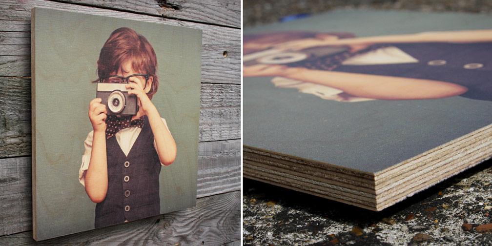 Photographer on wood