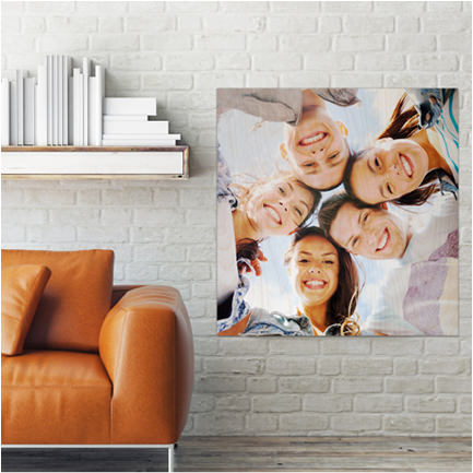 16 inch x 16 inch inspirational single photo wood print