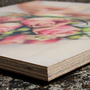 11 inch x 11 inch inspirational single photo wood print