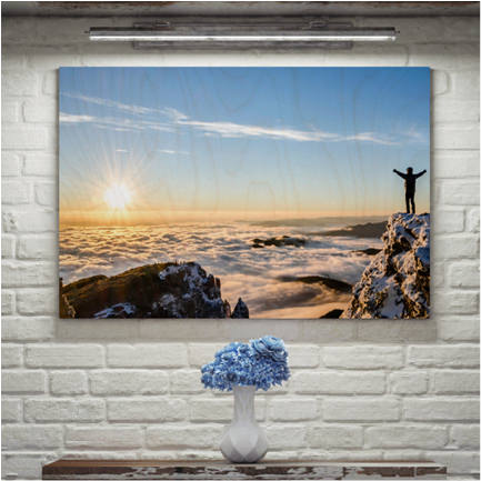 20 inch x 16 inch inspirational single photo wood print