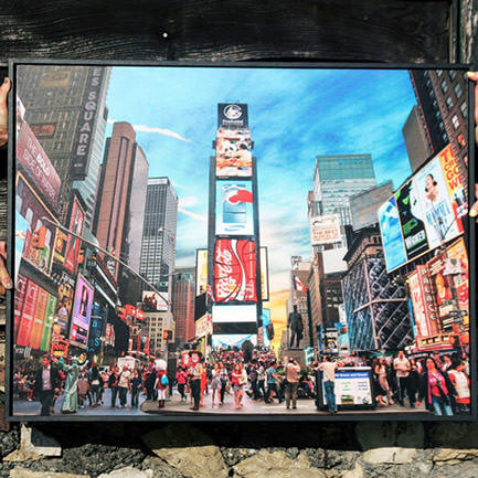 New york time square wood print