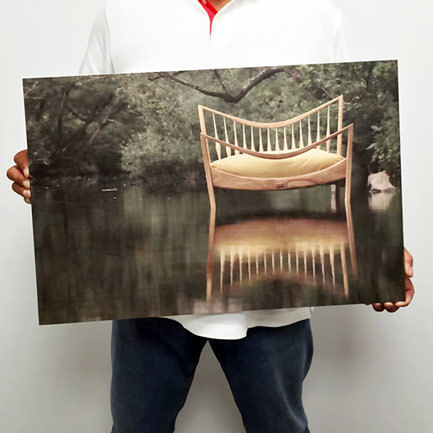 24 inch x 18 inch Romas furniture wood print