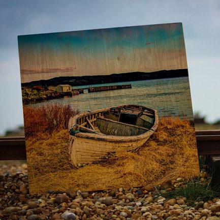 11 inch x 11 inch wood print