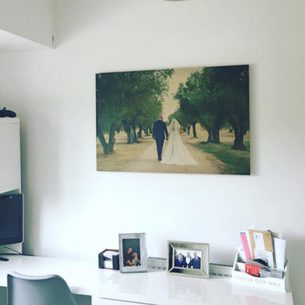 28 inch x 20 inch wedding office print