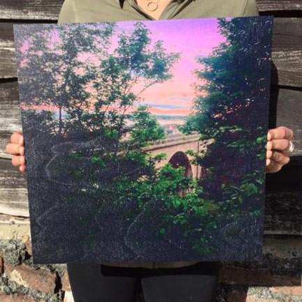 16 inch x 16 inch wood print