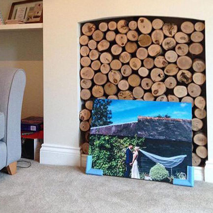 23 inch x 15 inch inspirational single photo wood print