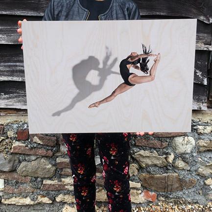 23 inch x 15 inch wood print